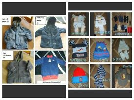 boys coats/jumper (new) up to 2 years and hats, gloves prices on pictures or £20 the lot