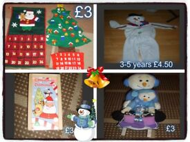 christmas stuff, snowman dress up, calenders and more