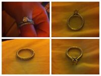 Sterling Silver Engagement & Wedding Rings Size P