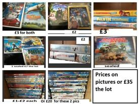 various childrens DVDS prices on pictures collection only