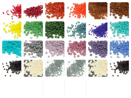 7.5 grams Miyuki Delica 11/0 glass seed beads round All Opaque matte Many colors