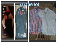 Boys age 10-11 coats, shirts