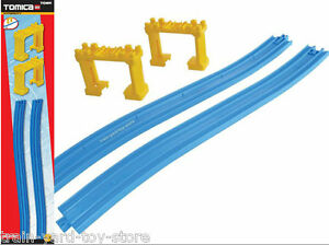 Rising Slope Train Track + Supports ~ Tomy Thomas Tomica Hypercity