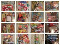 Colouring books, magazines, animal sets, revision guides and books
