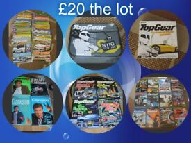 Top Gear bundle of DVD'S, books, magazine, board game and lunchbox