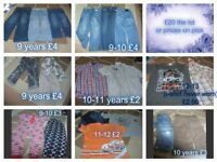 boys clothes 9 years to around 11 years smoke and pet free home collection only from didcot