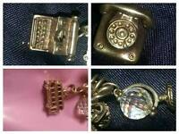 4 x 9ct gold antique charms