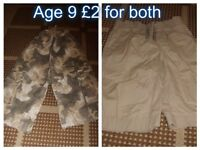 2 pairs of boys shorts age 9 years from a smoke and pet free home collection only from didcot