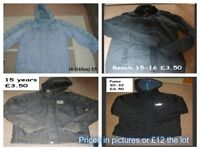 boys coats 15 years + prices on pictures or £12 the lot collection from didcot