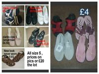 ladies shoes size 5 prices on pics or £20 for all collection from didcot