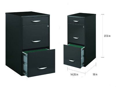Office Designs 3 Drawer Charcoal File Cabinet Grey With 1 Locking Drawer Modern