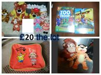 haven holiday soft toys , dvds and lunchbox all in pic £20 the lot