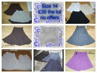 ladies skirts size 14 some new £30 no offers or prices on pictures