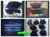 boys winter hats, gloves and snoods all new all one size ,other bundle used but good condition