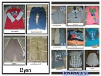 boys clothes 12-13 years prices on pictures can send more pictures collection only from didcot