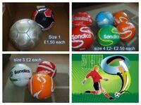 footballs sondico size 1,4 and 5