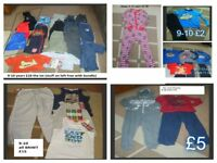 bundle of boys clothes 9-10 years and coat - prices on pictures