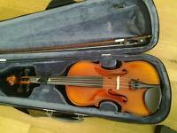 Violin - Stagg - 1/2 size with case, rest, stand and rosin - excellent condition