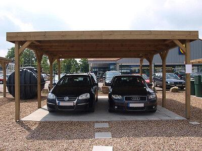 Carport Doppelcarport Flachdach 6,50 x 9,00 m Frühjahrsaktion!!!