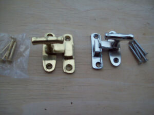 Solid-Brass-Showcase-Fastener-Thumbturn-Cabinet-Catch-latch-in-chrome-brass