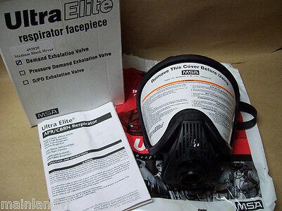 Msa Ultra Elite Respirator Facepiece Hycar Full Face 493020 Medium New 455wh