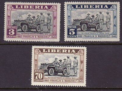 Liberia # 296-97 C51 MNH FDR CV is for Hinged