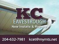 Professional Eavestrough Install