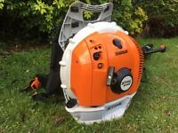 STIHL br600 magnum back pack leaf blower 2016 like NEW