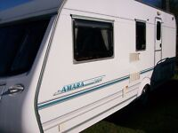 coachman amara 4 berth 2004 end dressing room full new awning great condition