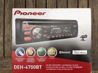 Pioneer DEH-4700BT car stereo cd Bluetooth iPhone handsfree golf