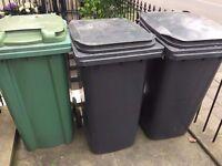 x1 Green wheelie bin for sale