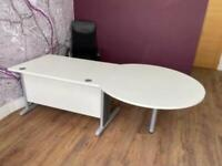 FREE DELIVERY LARGE WHITE OFFICE DESK & BLACK CHAIR