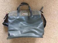 Leather changing bag babymel
