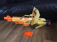 Nerf stampede ECS Gun with shield