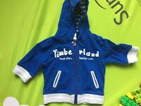 Baby timberland, hoodie, 3 months