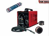 Sealey SUPERMIG130 Welder 130A 230V Gas + 0.7kg 0.6mm Flux wire + Disposable Gas