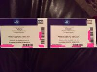 2x FUTURE Concert STANDING - London 02 Arena 23rd OCT