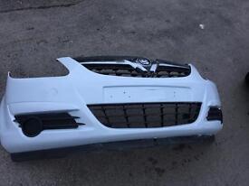 Corsa d 2006-2010 front bumper in white