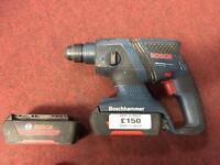 Bosch power/hammer cordless drill 2XL batteries