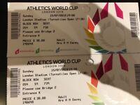 World Cup Athletics Sunday Night