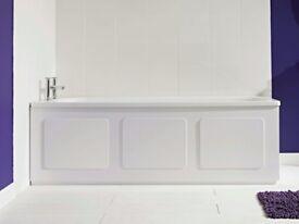 NEW Croydex Gloss White Storage Front Bath Panel WB715122 Height Adjustable 169 cm