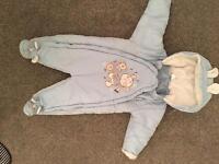 Baby boy blue snowsuit 6-9 months