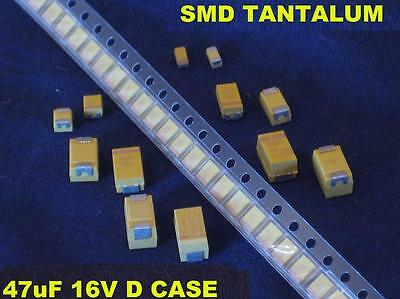 Smd 47uf 47 Uf 16v D Case Tantalum Capacitors Qty 100  New