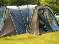 khyam Ridgipod Excelsior Tent Inners X2, ground sheets, poles, 1 Extra Ridgi pod Extension Cared For