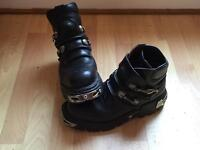 MENS NEW ROCK BOOTS SIZE UK10