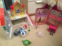 Peppa pig play houses in carry boxes