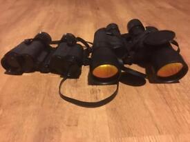 2 pair binoculars