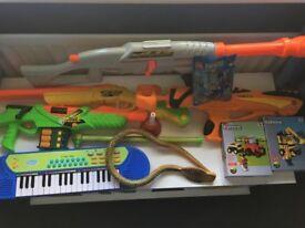 Kids Toy Bundle Lego, Blocks, Musical Instruments, Toy Guns, Toy Rattle Snake