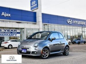 2013 Fiat 500 Sport|Leather|Sunroof|Heated Front Seats|
