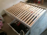Double Bed Frame (with timber slats)
